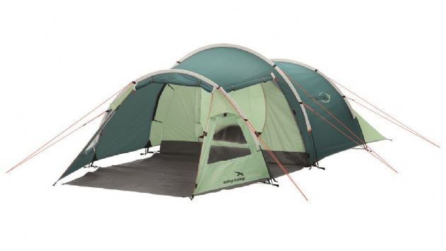 Easy Camp Camping Tent Spirit 300 Green, 3 Person Camping Hiking Backpacking Tent- Grasshopper Leisure